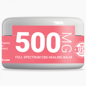 xanadu 500mg full-spectrum healing balm front label