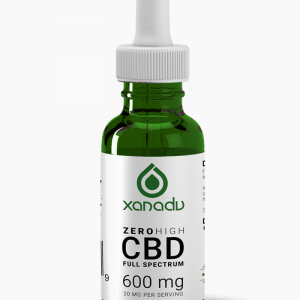 Xanadu 600mg full spectrum CBD oil - front label